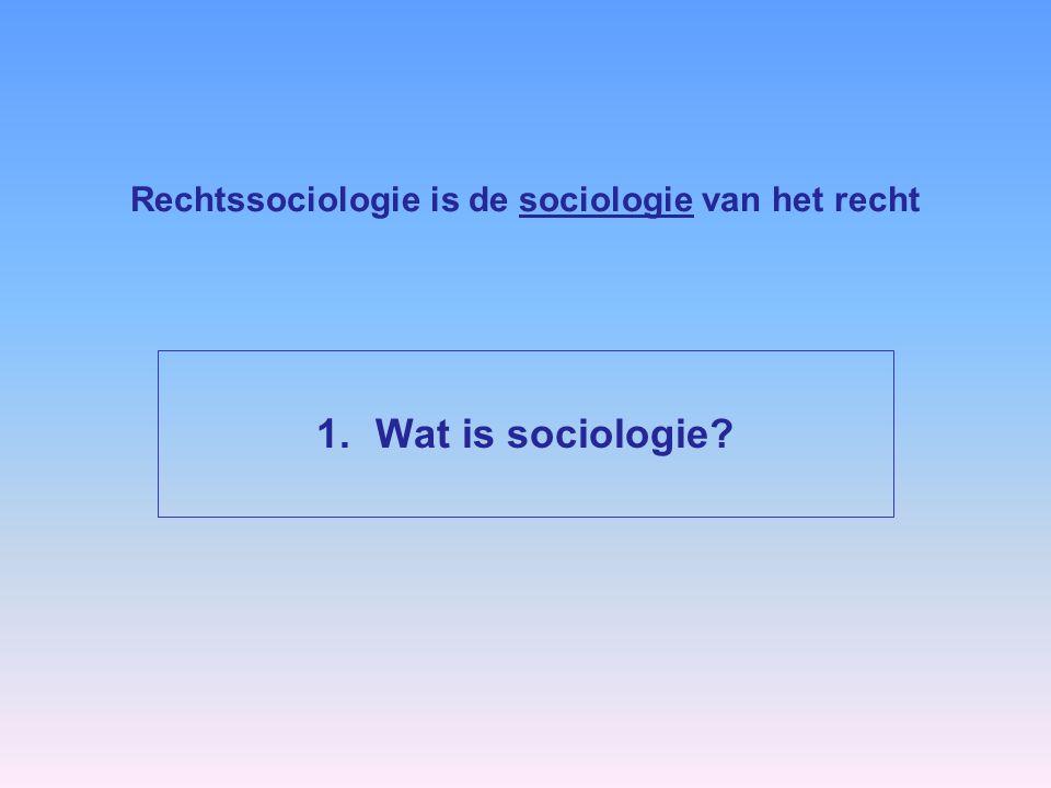 Rechtssociologie is de sociologie van het recht 1.Wat is sociologie?