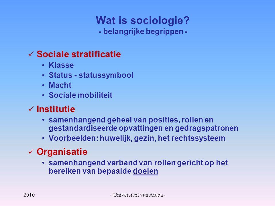 2010- Universiteit van Aruba - Wat is sociologie.