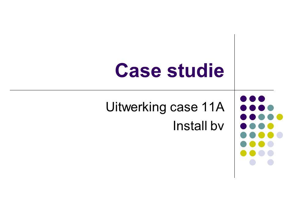 Case studie Uitwerking case 11A Install bv