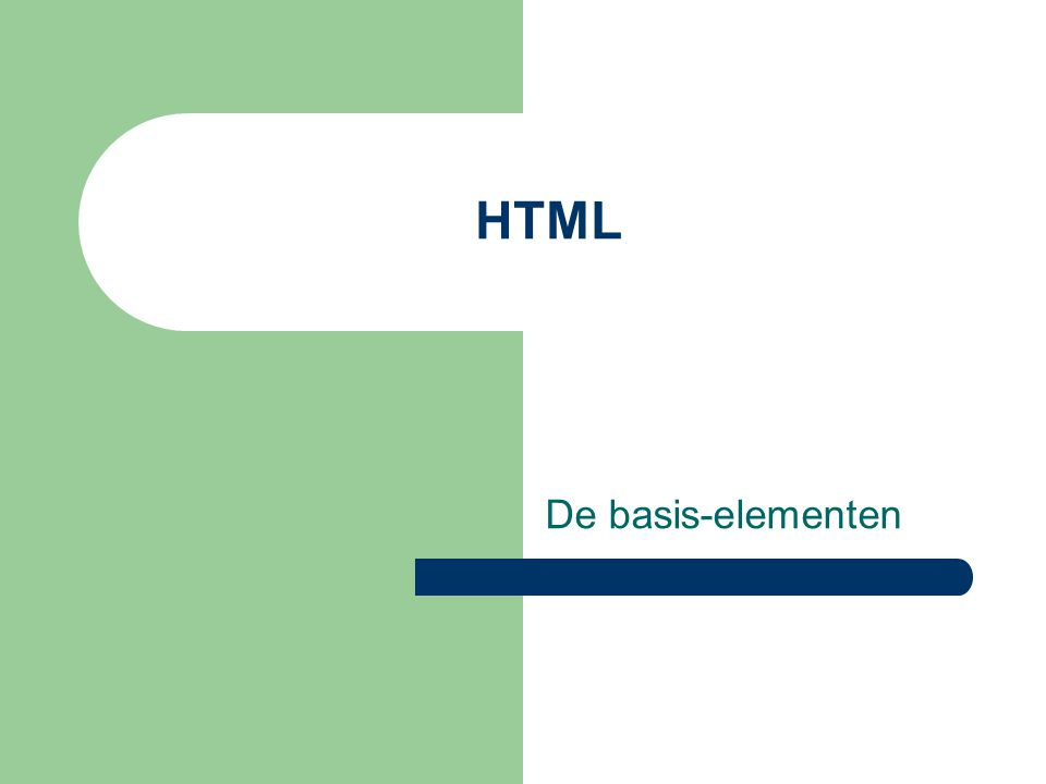 Wat is HTML.