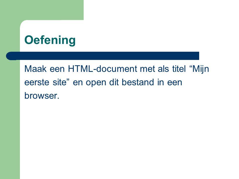 Opmaak van HTML-bestand Horizontale lijnen: Koppen: … Enter: Paragraaf: … Spatie: