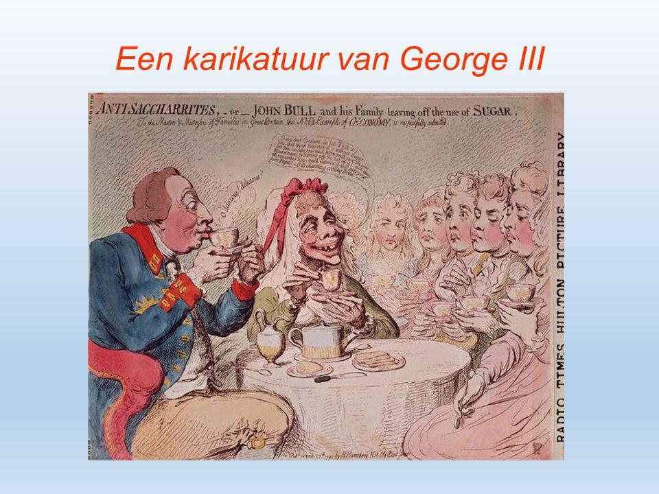 Een karikatuur van George III