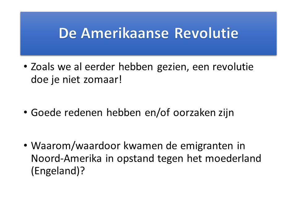 Zoals we al eerder hebben gezien, een revolutie doe je niet zomaar.