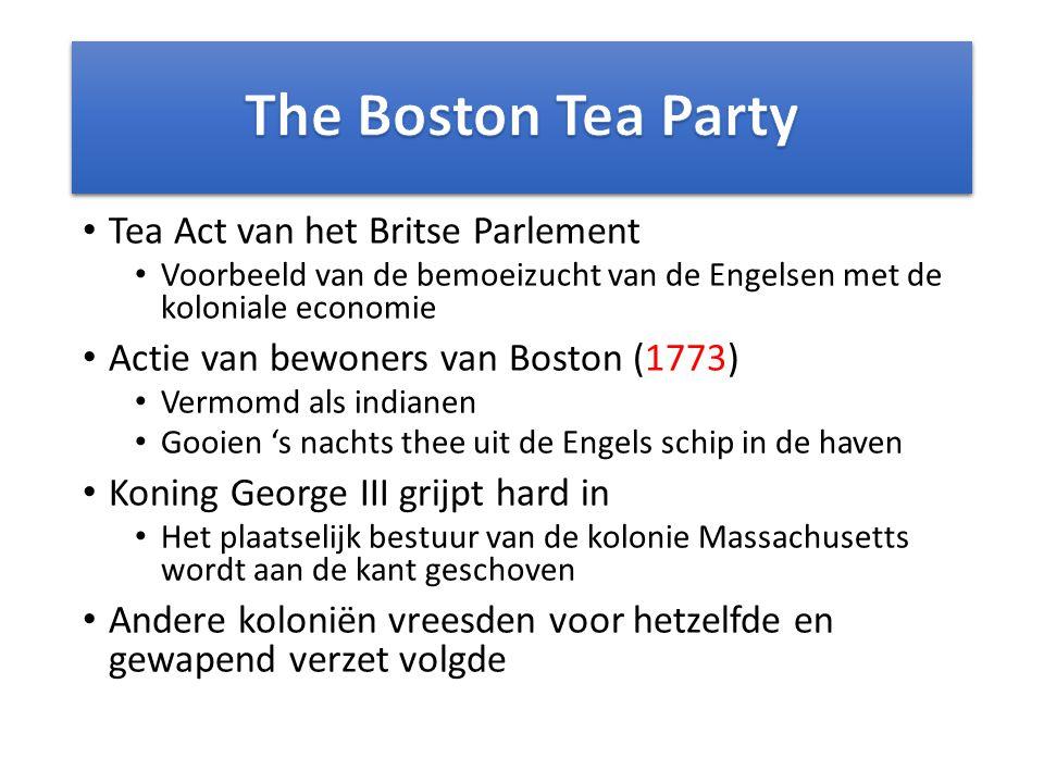 Verzet in beeld standbeeld van King George III gaat om, 9 juli 1776 Boston Tea party