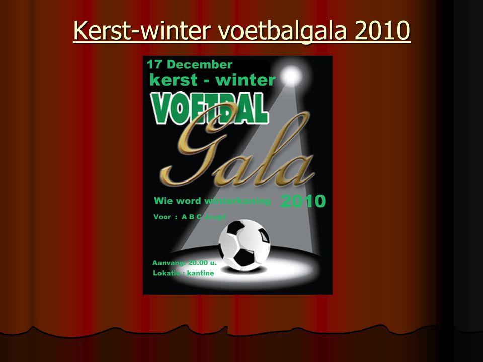Kerst-winter voetbalgala 2010