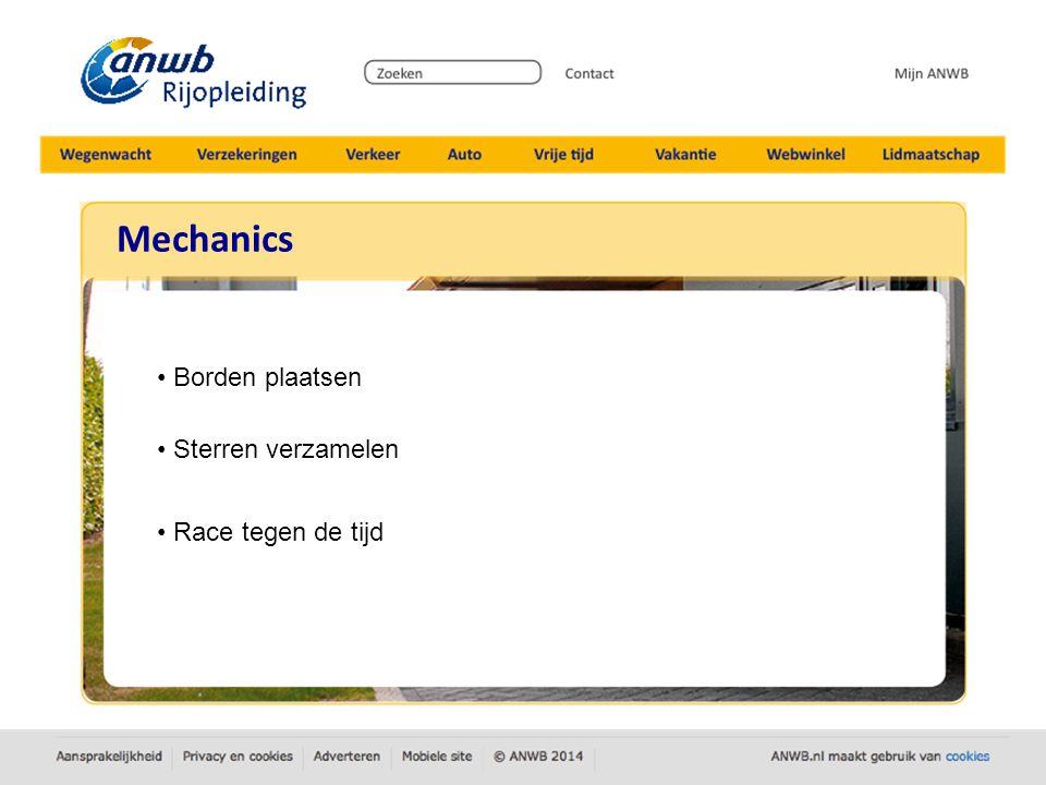 Mechanics Borden plaatsen Sterren verzamelen Race tegen de tijd