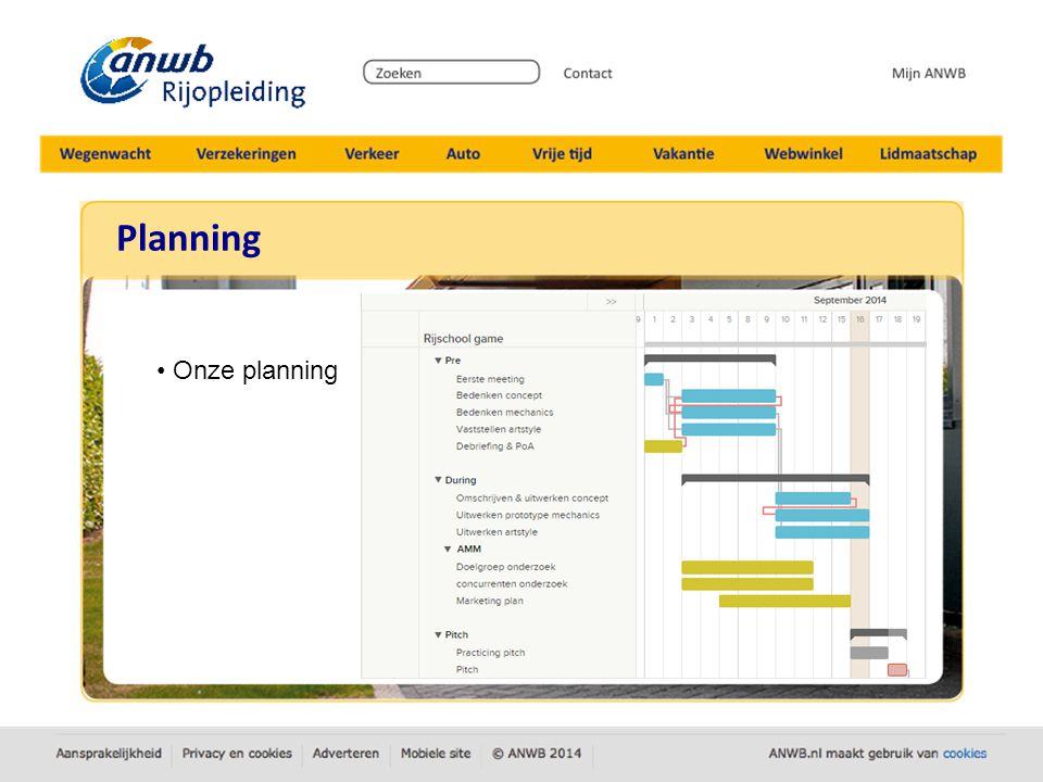 Planning Onze planning
