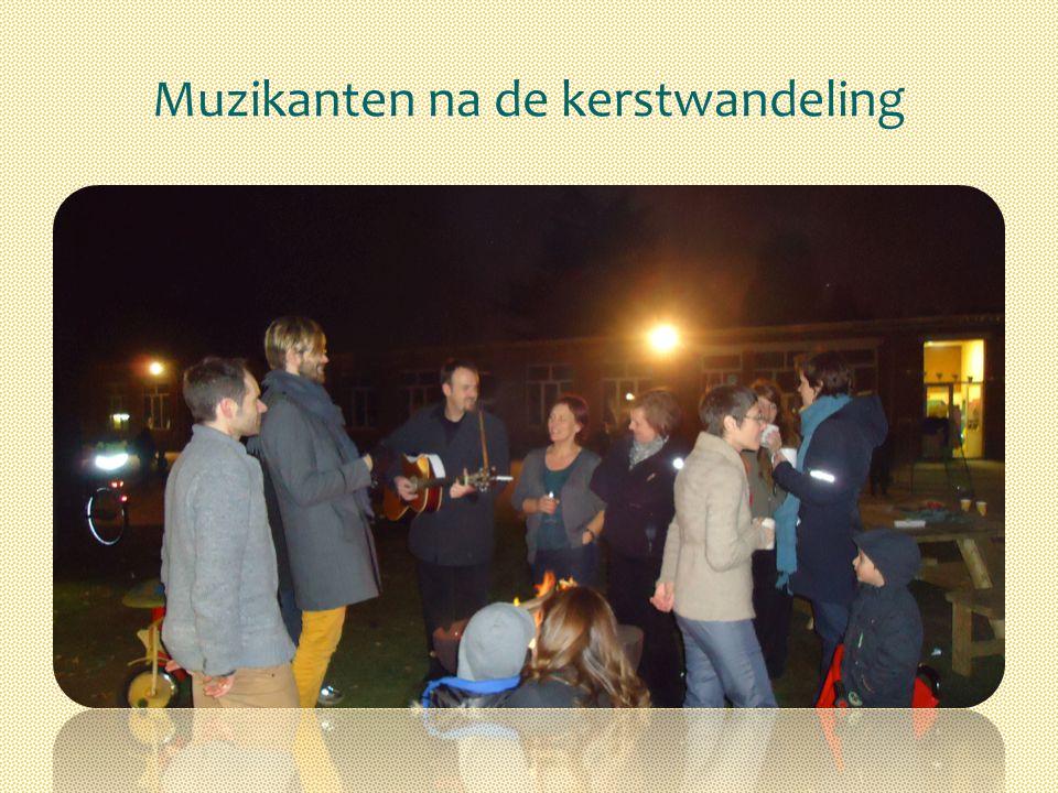 Muzikanten na de kerstwandeling