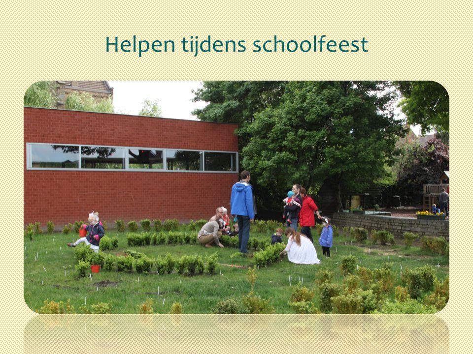 Helpen tijdens schoolfeest