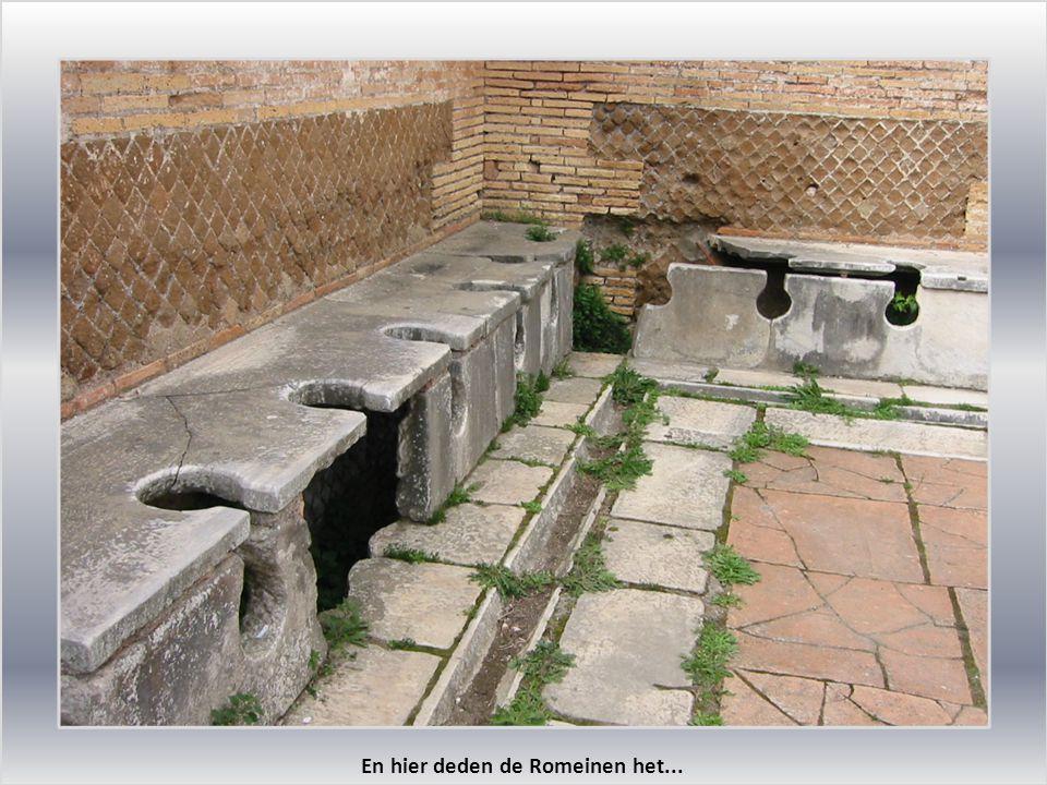 En hier deden de Romeinen het...