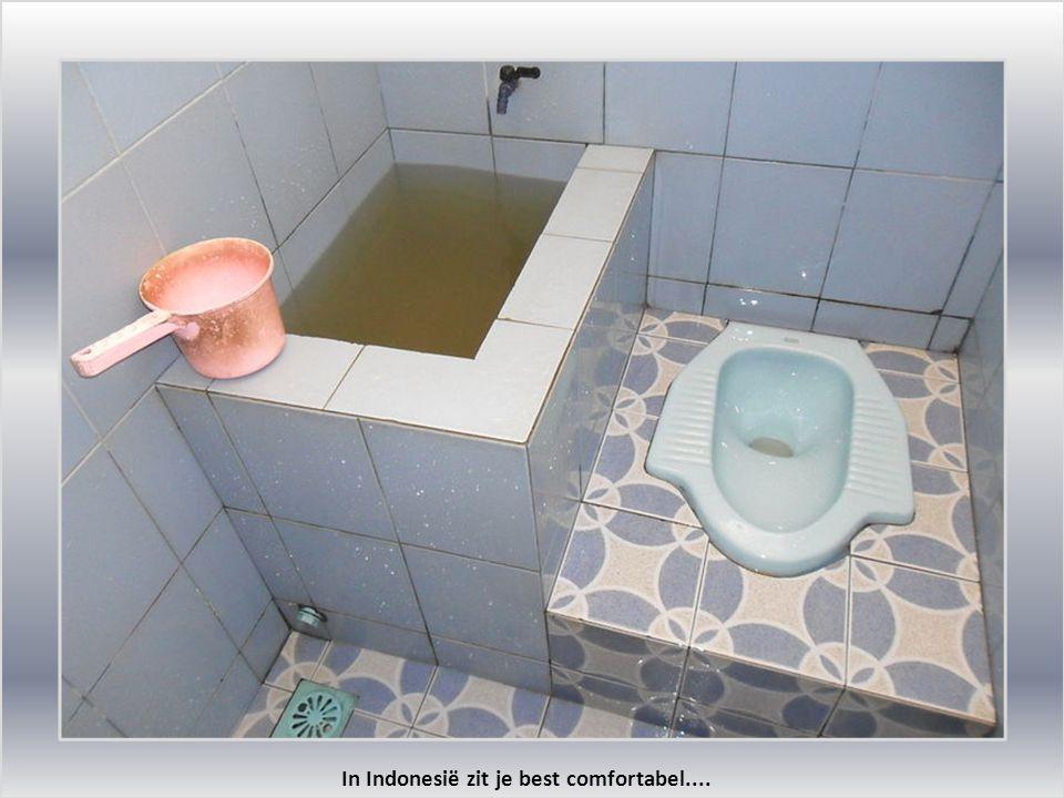 In Indonesië zit je best comfortabel....