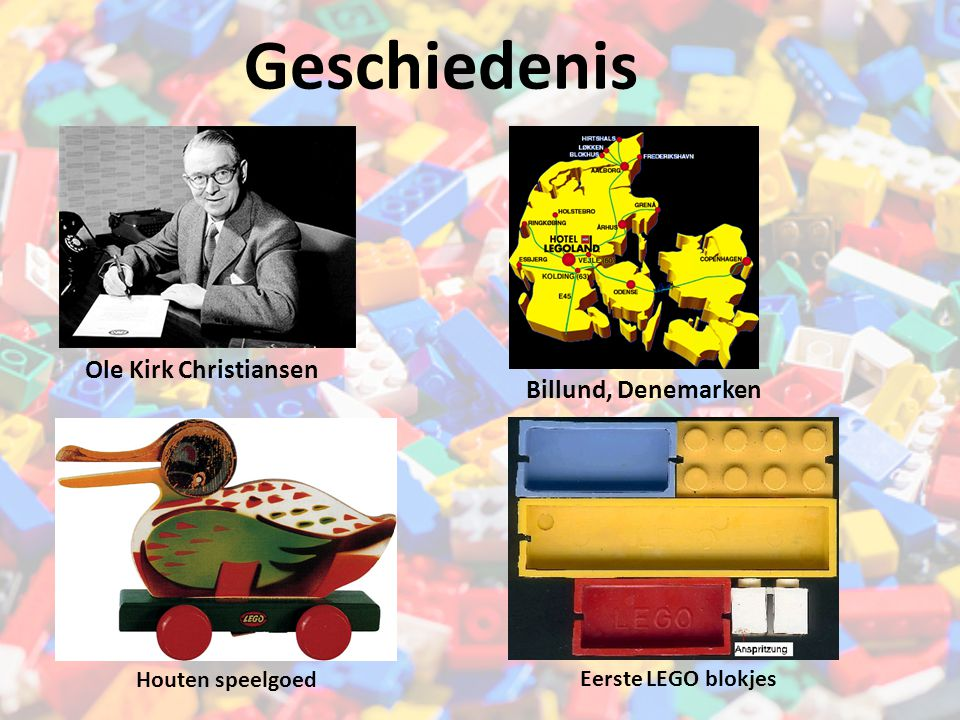 Ole Kirk Christiansen Billund, Denemarken Geschiedenis Houten speelgoed Eerste LEGO blokjes