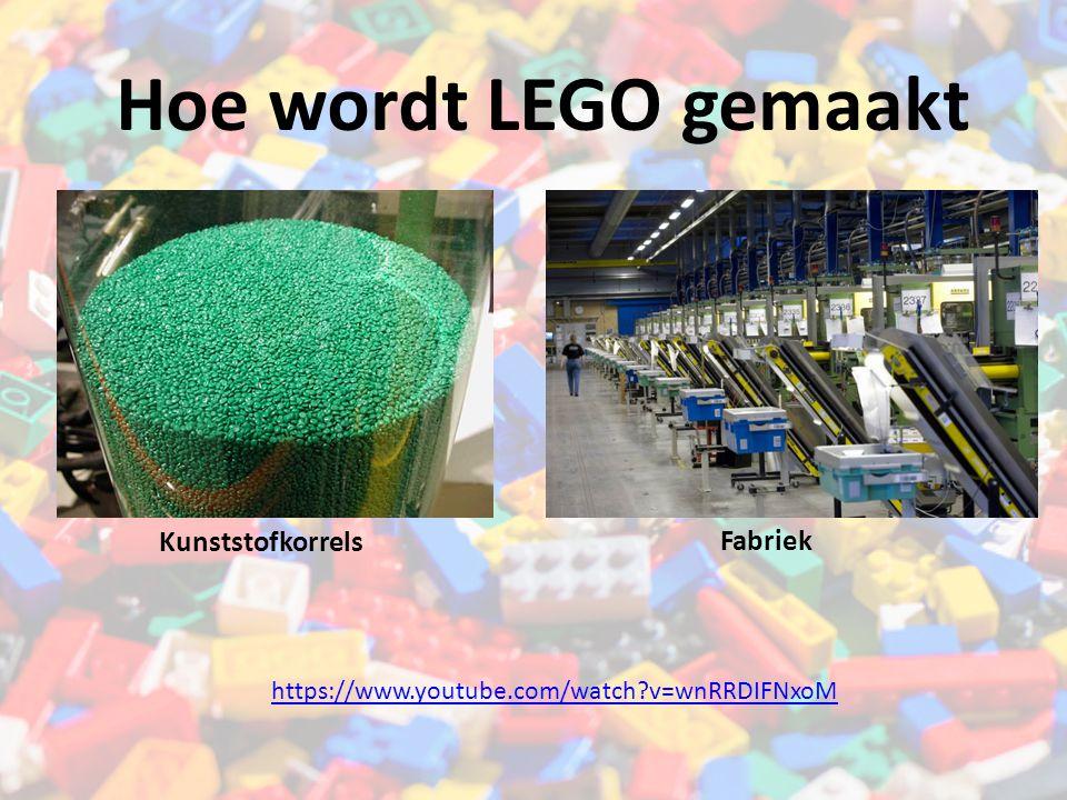 Hoe wordt LEGO gemaakt Kunststofkorrels Fabriek https://www.youtube.com/watch?v=wnRRDIFNxoM