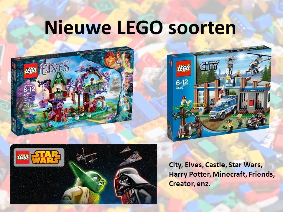 Nieuwe LEGO soorten City, Elves, Castle, Star Wars, Harry Potter, Minecraft, Friends, Creator, enz.