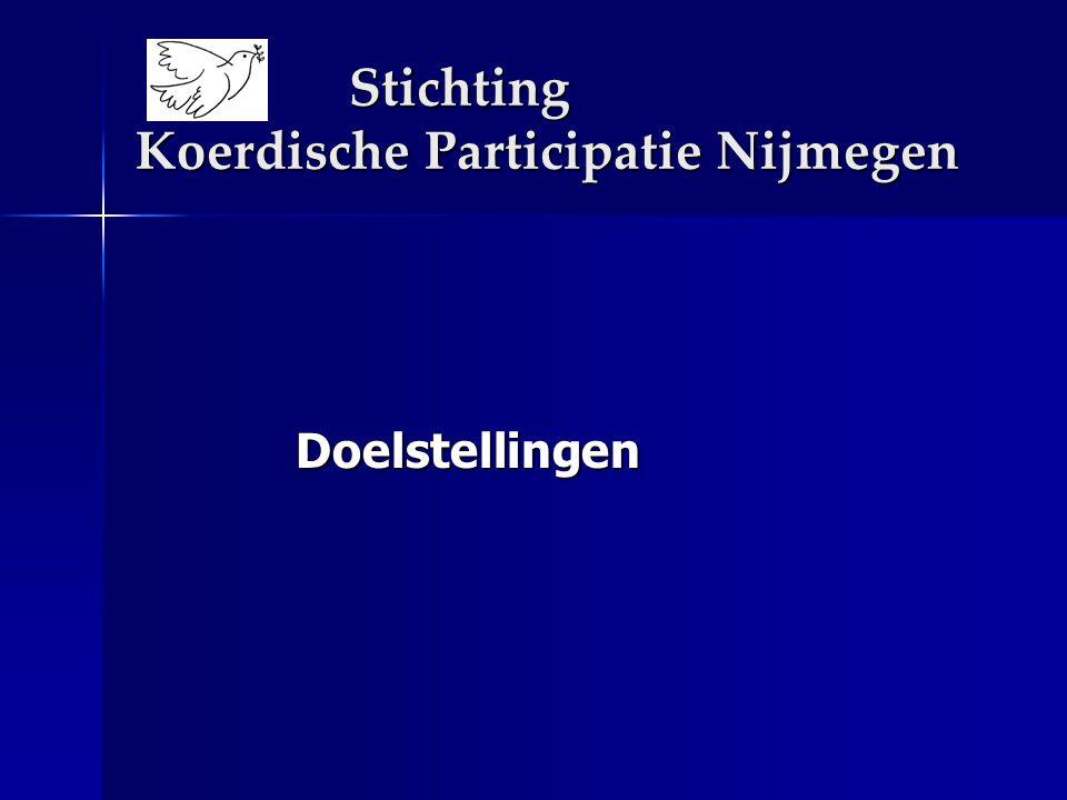 Stichting Koerdische Participatie Nijmegen Doelstellingen