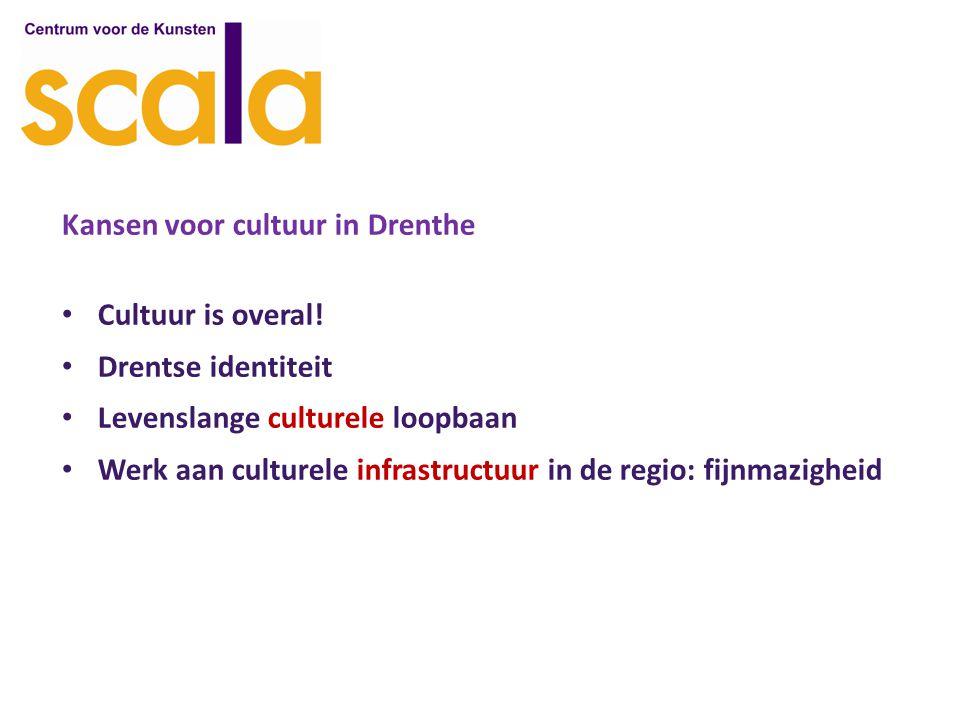 Kansen voor cultuur in Drenthe Cultuur is overal.