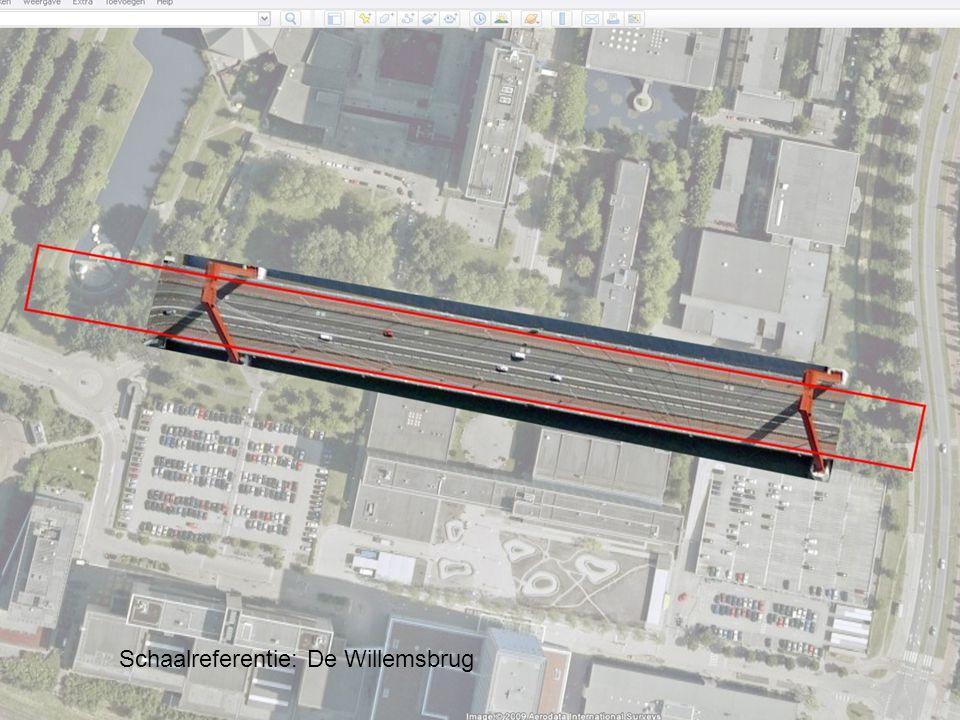 Plankaart eerste fase Schaalreferentie: De Willemsbrug