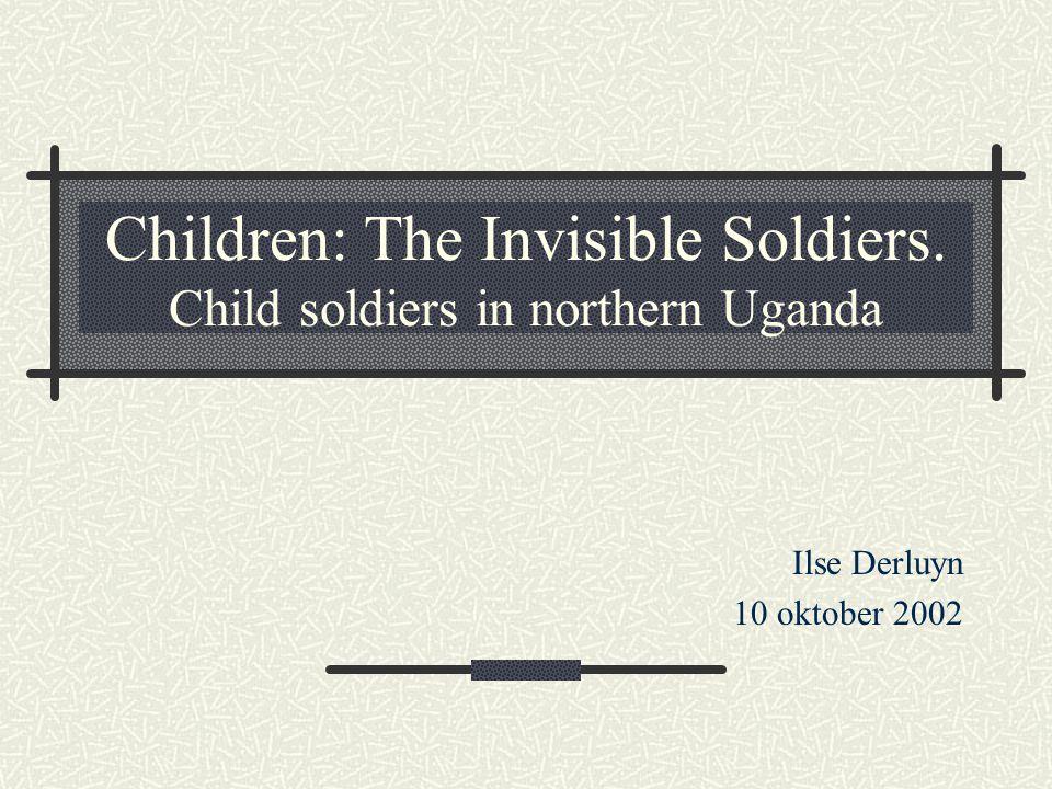 Kindsoldaten (1) Ongeveer 300 000 in meer dan 50 landen Van alle tijden – maar stijging.