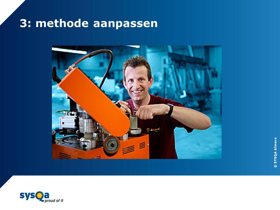 © SYSQA Almere 3: methode aanpassen 10
