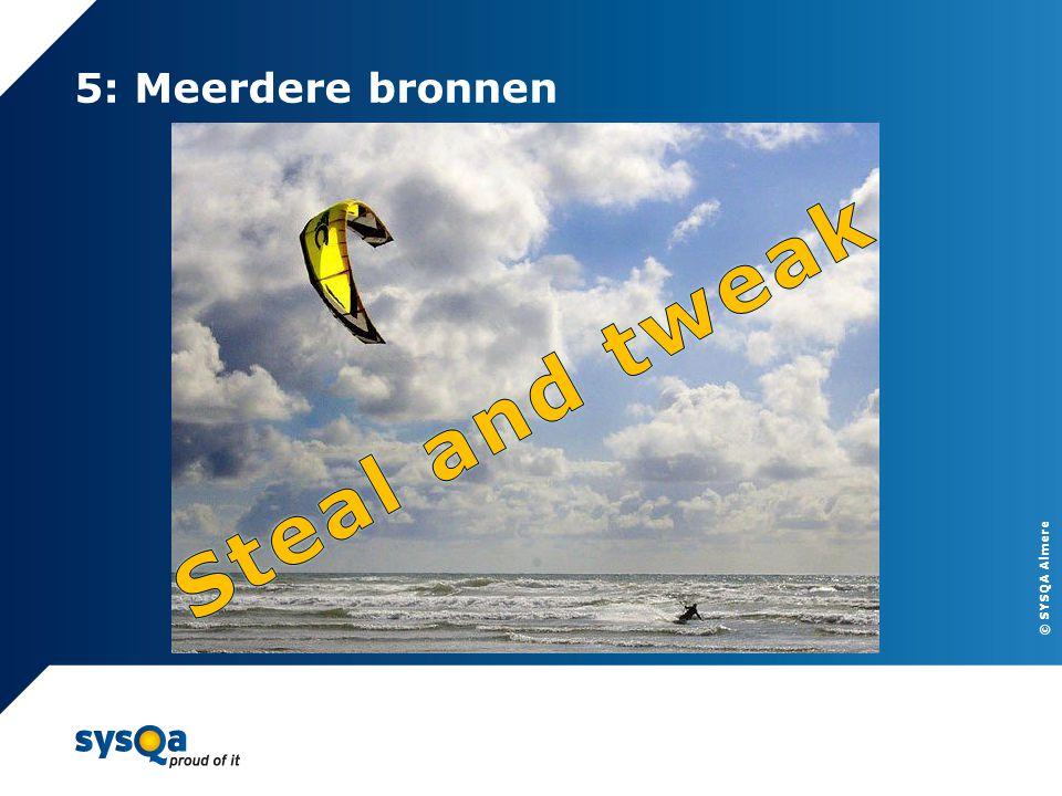 © SYSQA Almere 5: Meerdere bronnen 12