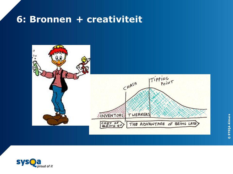 © SYSQA Almere 6: Bronnen + creativiteit 13