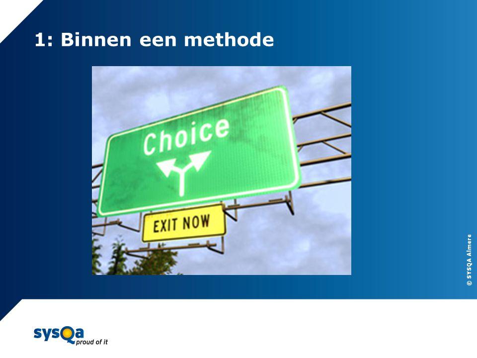 © SYSQA Almere 1: Binnen een methode 8