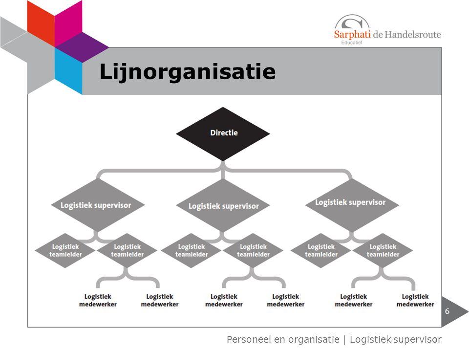 6 Personeel en organisatie   Logistiek supervisor Lijnorganisatie