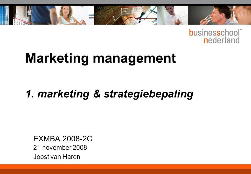 21 november 2008 © ZIEL & ZAKELIJKHEID - Klantgericht Ondernemen 11 De zoektocht van de marketeer...