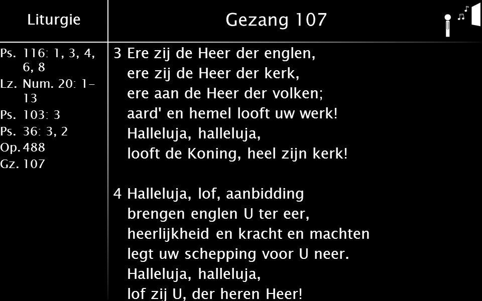 Liturgie Ps.116: 1, 3, 4, 6, 8 Lz.Num.