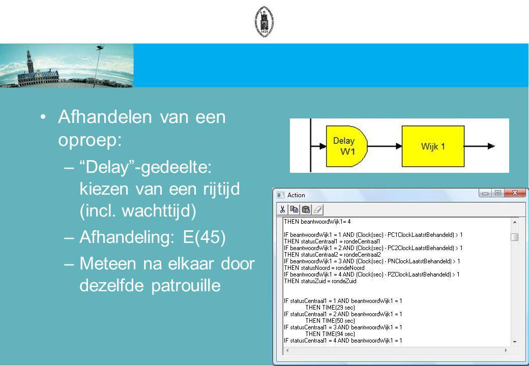 Afhandelen van een oproep: – Delay -gedeelte: kiezen van een rijtijd (incl.