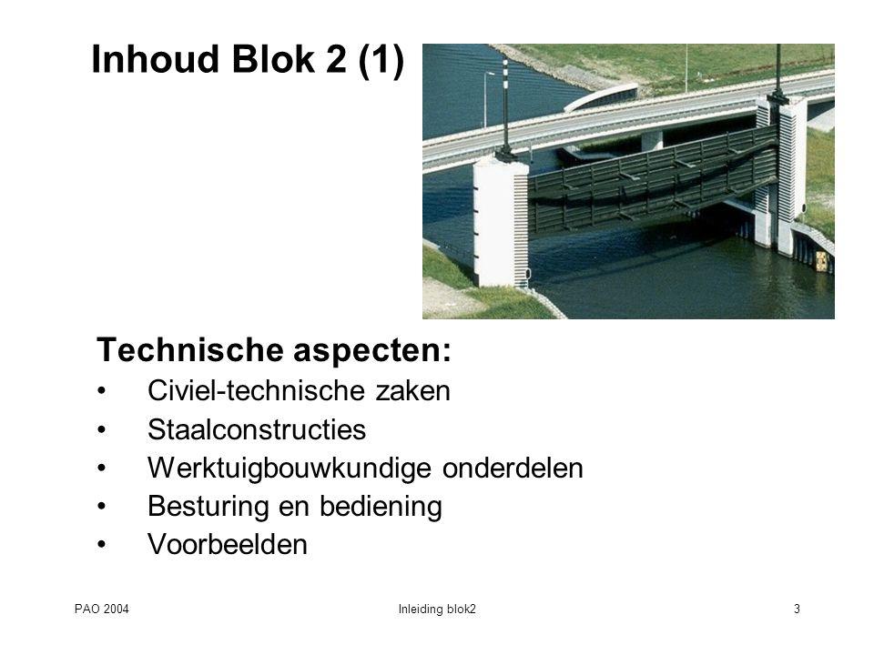 PAO 2004Inleiding blok214 Blok 2, FOS23: Nieuwe ontwikkelingen constructies en materialen (1) M.