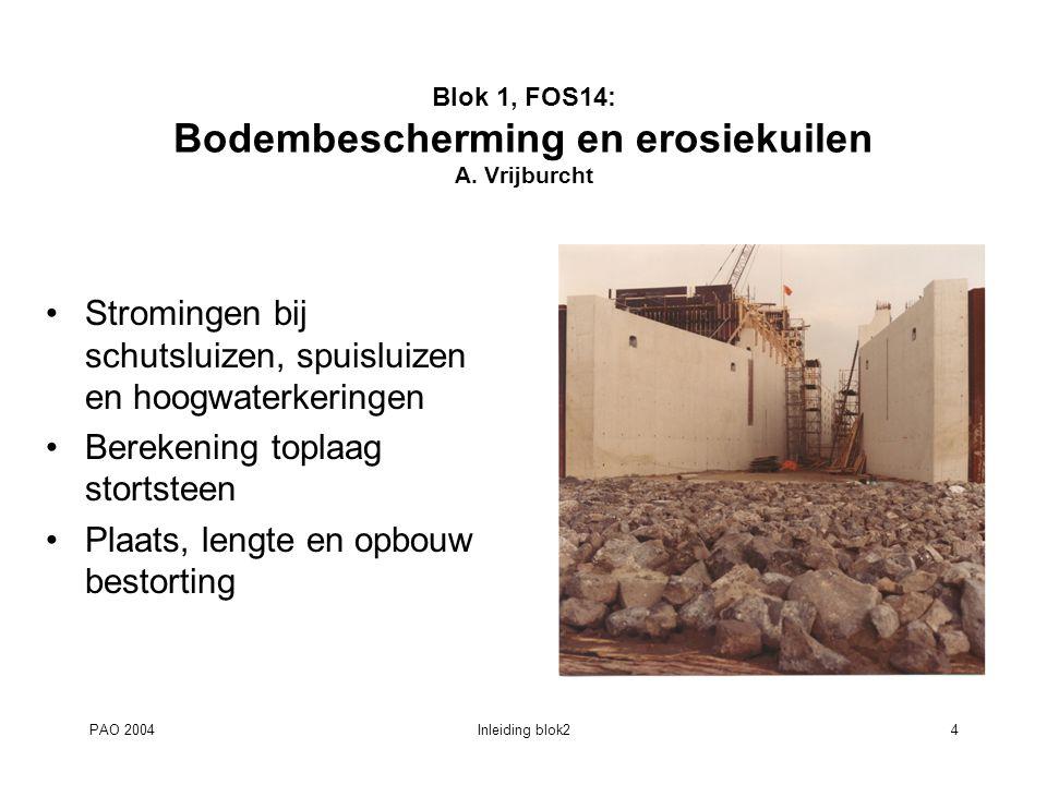 PAO 2004Inleiding blok25 Blok 2, FOS20: Civieltechnisch ontwerp van waterbouwkundige constructies F.M.