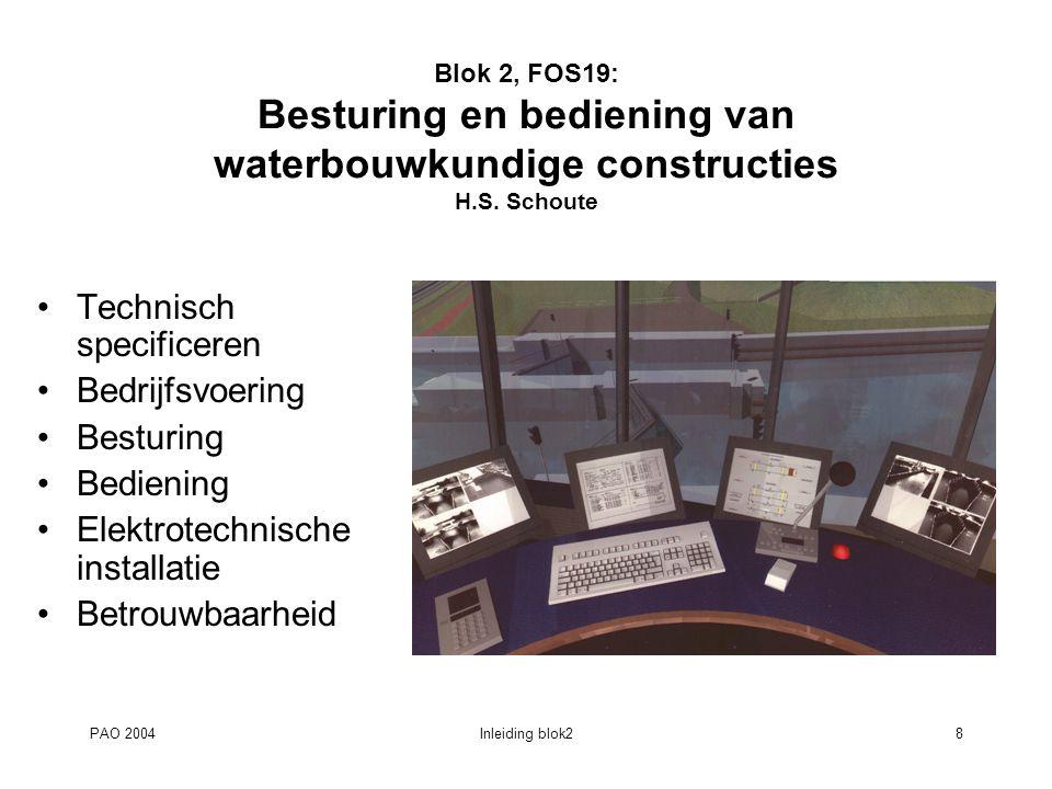 PAO 2004Inleiding blok29 Blok 2, FOS18: Voorbeeld uitbreiding gemaal IJmuiden M.T.J.