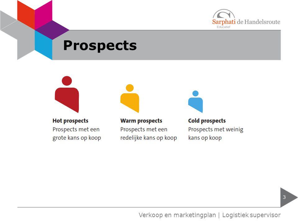 Internationale handel 4 Verkoop en marketingplan | Logistiek supervisor