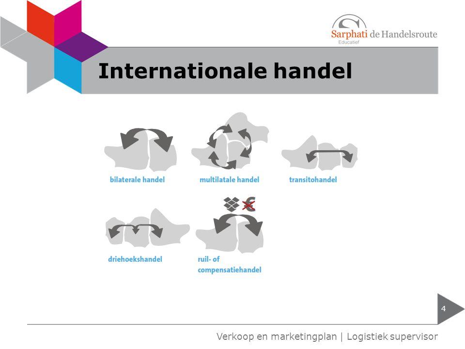 Import en export 5 Verkoop en marketingplan | Logistiek supervisor