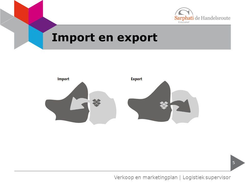 Stappenplan import 6 Verkoop en marketingplan | Logistiek supervisor