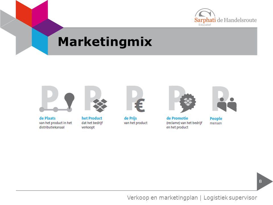 Marketingmix 8 Verkoop en marketingplan | Logistiek supervisor
