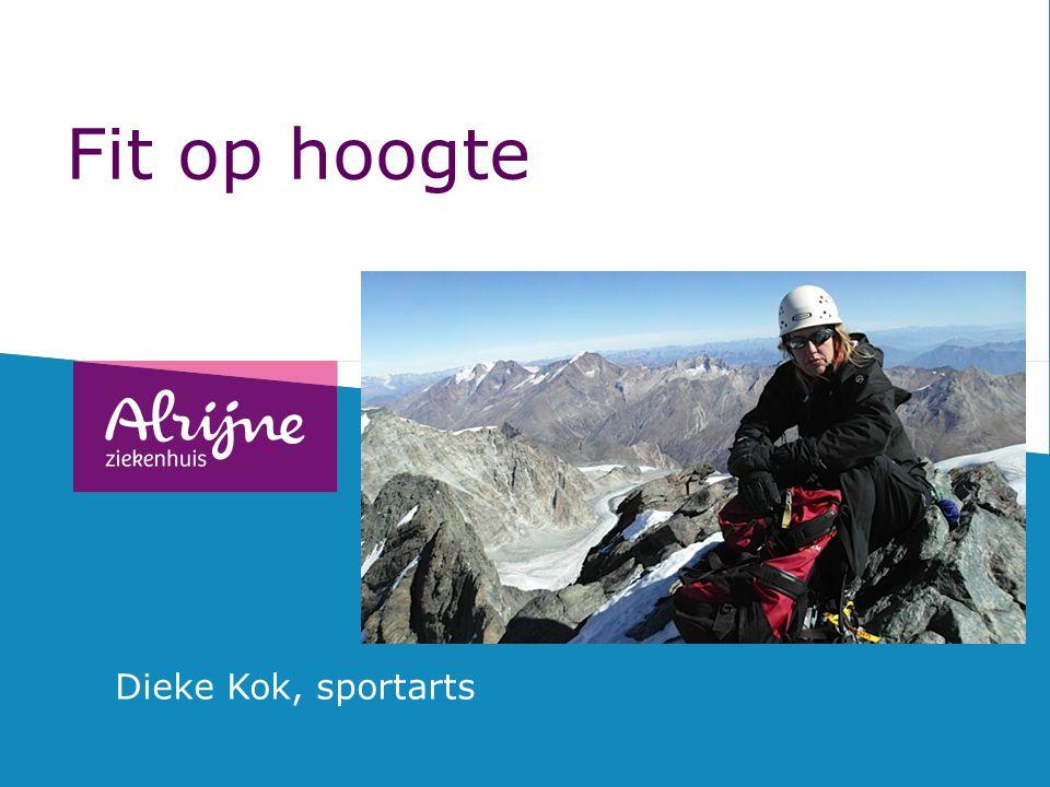 Openingsdia beschikbaar in drie kleuren, te gebruiken naar keuze Fit op hoogte Dieke Kok, sportarts