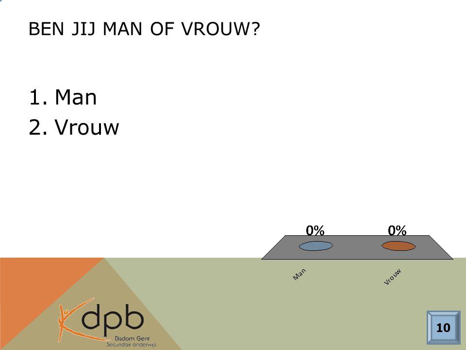 BEN JIJ MAN OF VROUW 1.Man 2.Vrouw 10