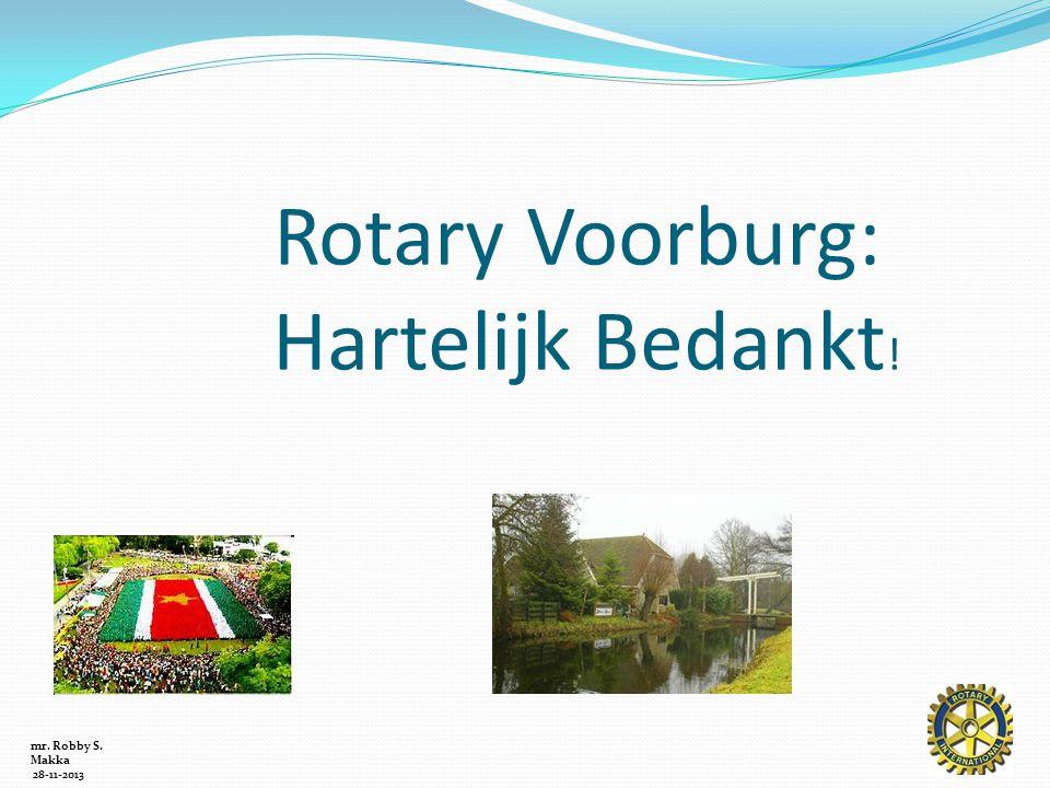 Rotary Voorburg: Hartelijk Bedankt !
