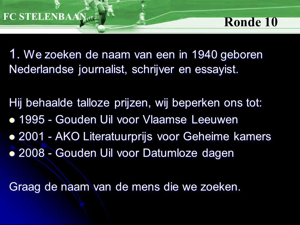 1. We zoeken de naam van een in 1940 geboren Nederlandse journalist, schrijver en essayist.