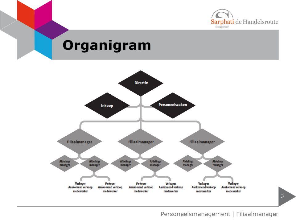 Organigram 3 Personeelsmanagement | Filiaalmanager