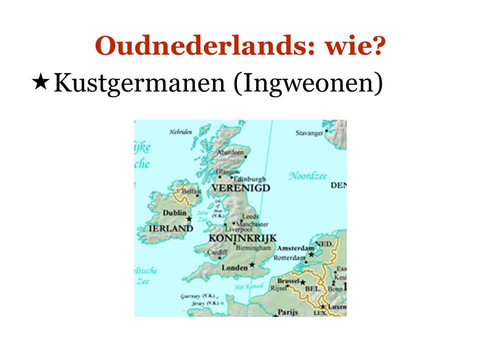 Geschiedenis van het Nederlands  Oudnederlands het oude graafschap Vlaanderen