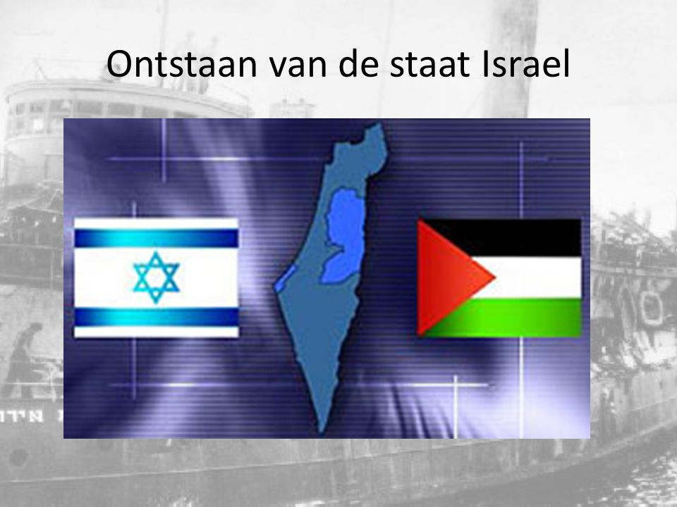 Ontstaan van de staat Israel