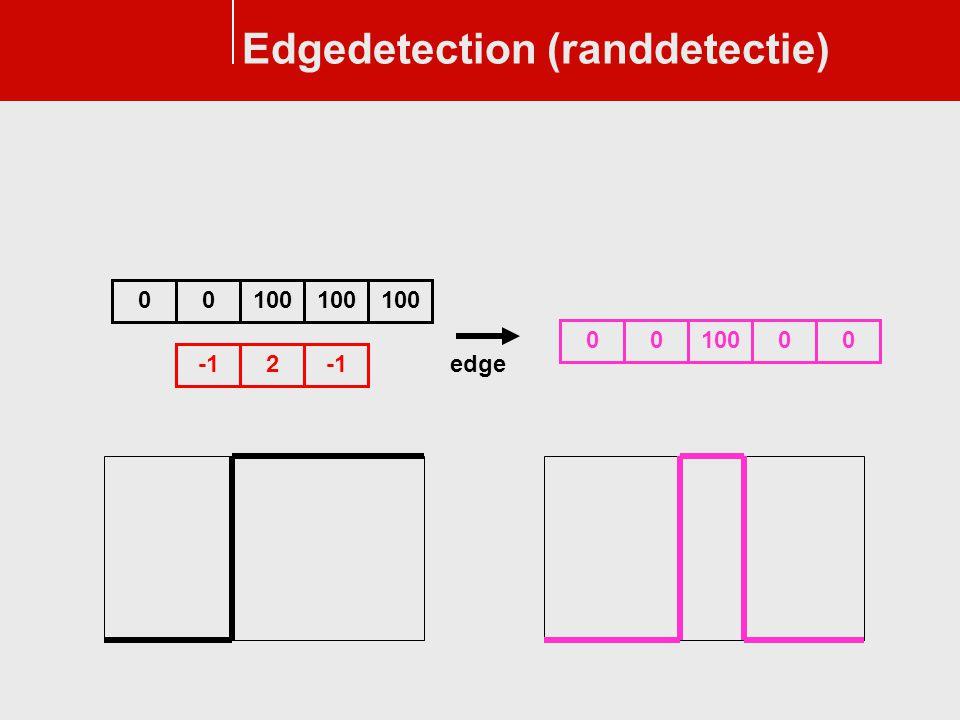 Edgedetection (randdetectie) 2 0100 0 0 000 edge