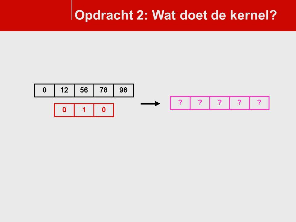 Opdracht 2: Wat doet de kernel? 010 125678096 ?????