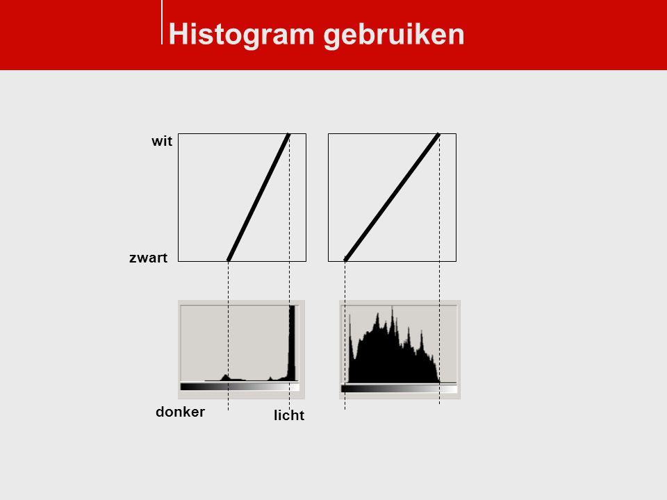 Histogram gebruiken donker licht wit zwart
