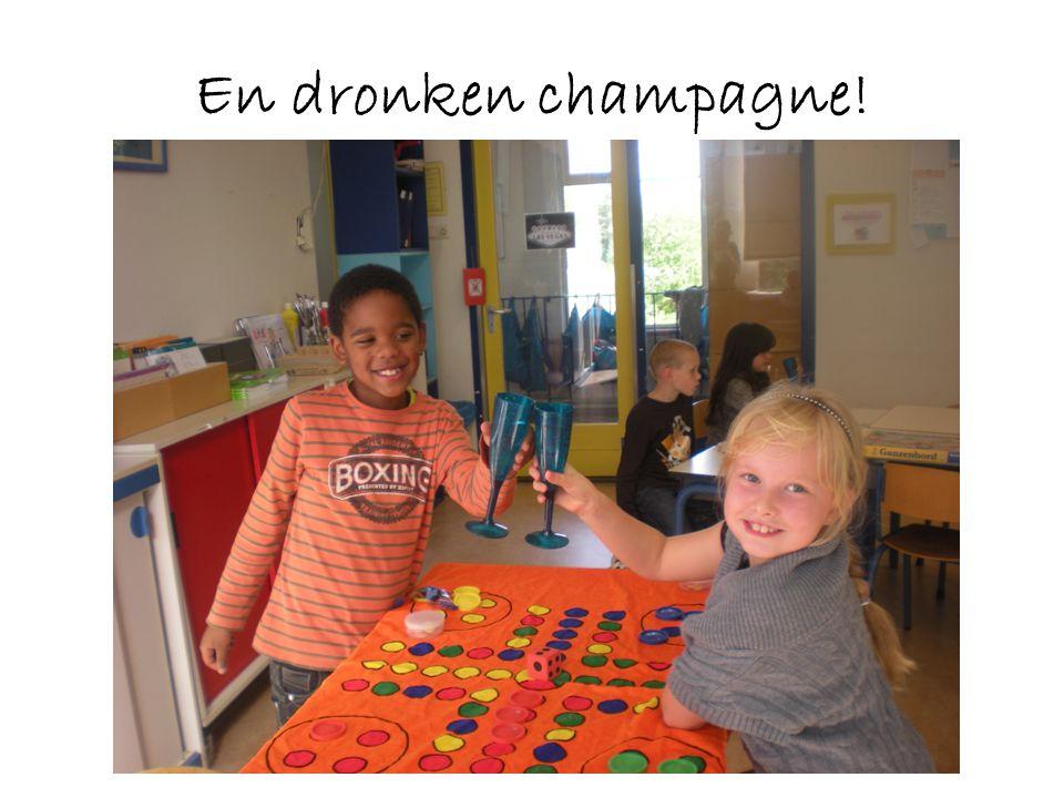 En dronken champagne!