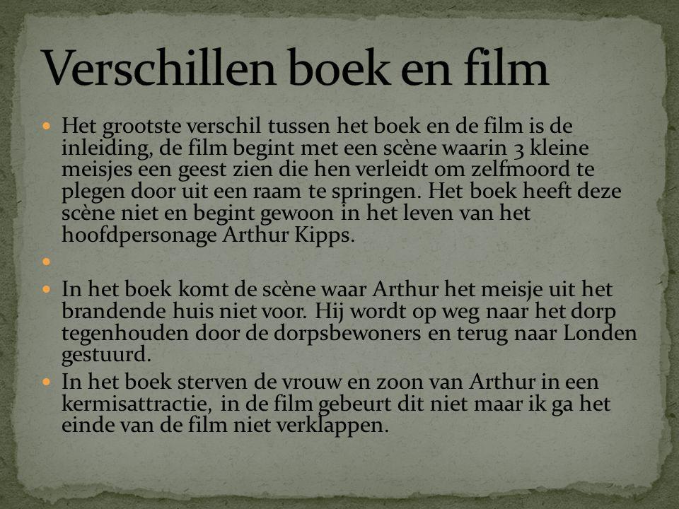 Het grootste verschil tussen het boek en de film is de inleiding, de film begint met een scène waarin 3 kleine meisjes een geest zien die hen verleidt om zelfmoord te plegen door uit een raam te springen.