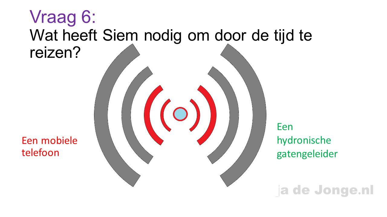 Tanja de Jonge.nl Vraag 6: Wat heeft Siem nodig om door de tijd te reizen.
